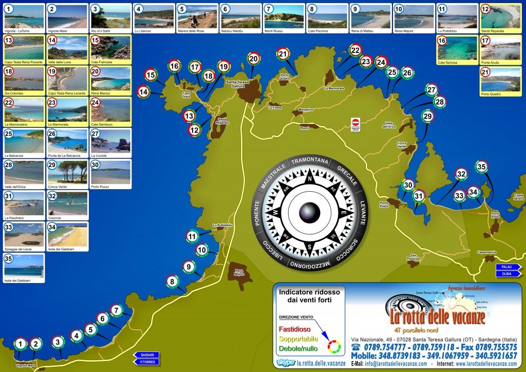 Mappa delle spiagge